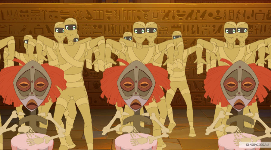Кадр из мультфильма «Три богатыря и принцесса Египта» © Фото с сайта kinopoisk.ru