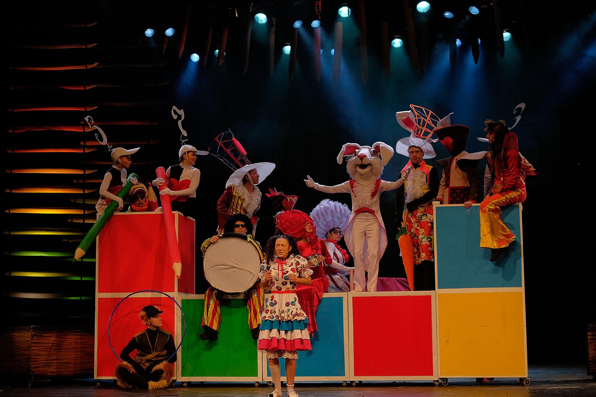 Кадр из спектакля «Алиса в Стране чудес»