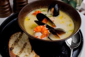 Сливочный чаудер с морепродуктами © Фото со страницы ресторана «Сын мясника» в инстаграме www.instagram.com/sonbutcher