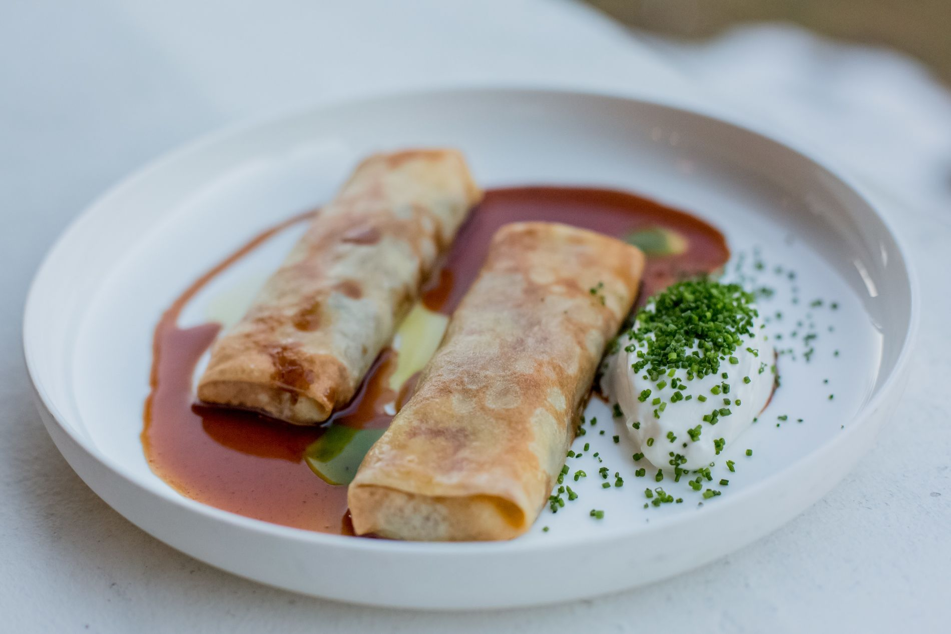 Блины с бурратой в ресторане Red Fox ©Фото предоставлено рестораном