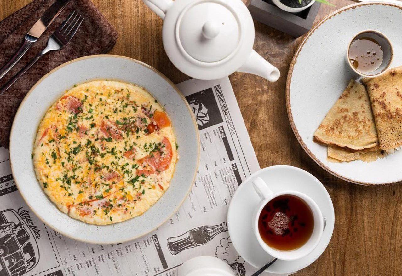 Российский завтрак ©Фото со страницы ресторана «Чайка Ливингстон» в инстаграме www.instagram.com/chaika_livingstone_rest