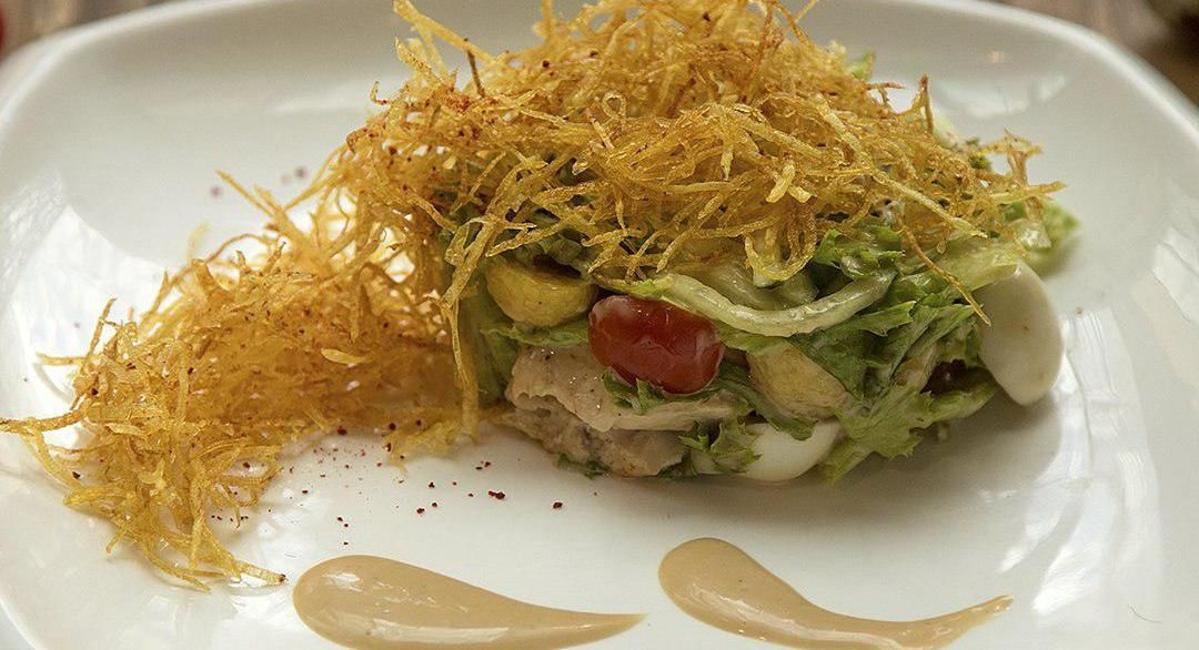 Салат с индейкой и картофелем пай