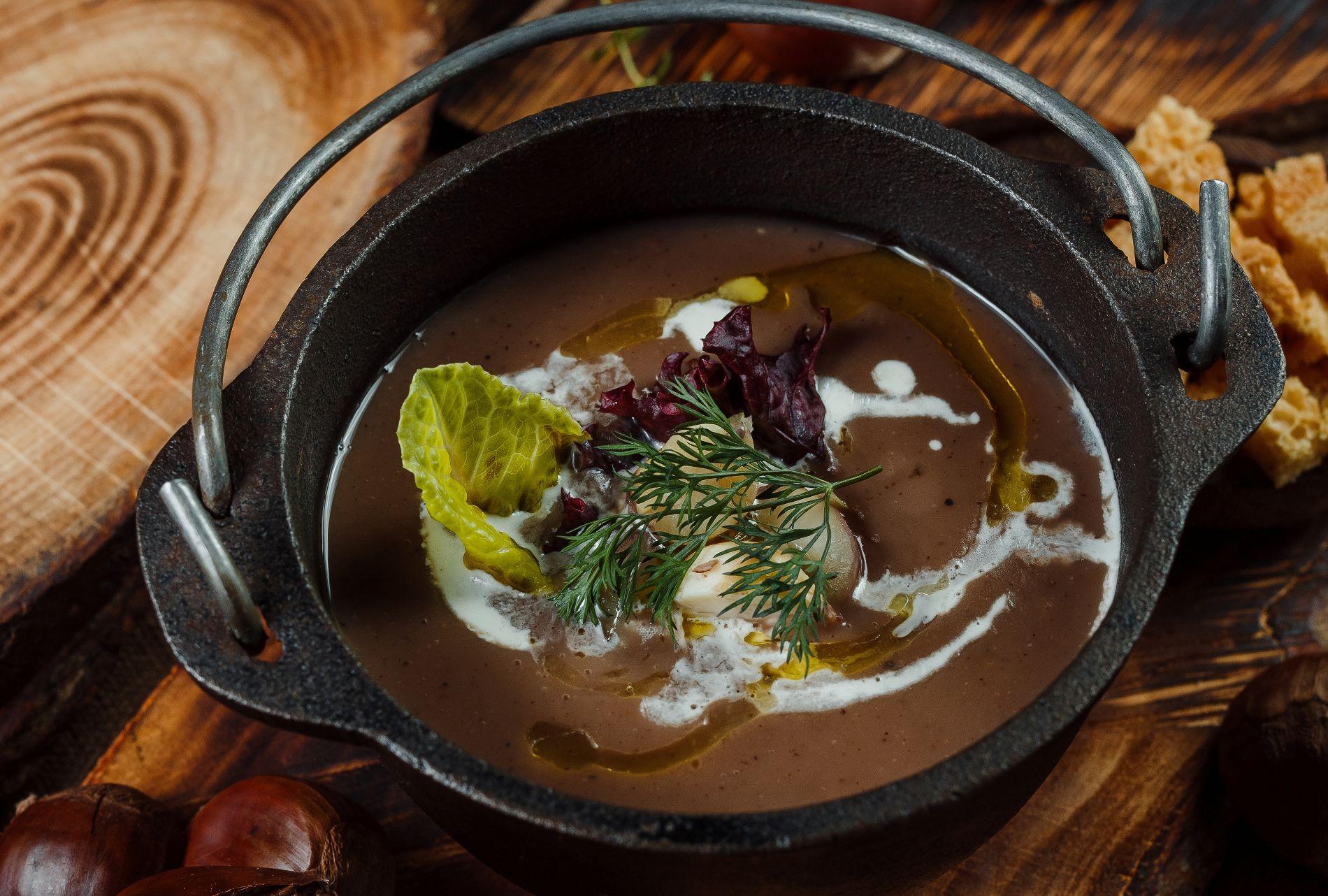 Крем-суп из каштанов ©Фотография предоставлена заведением