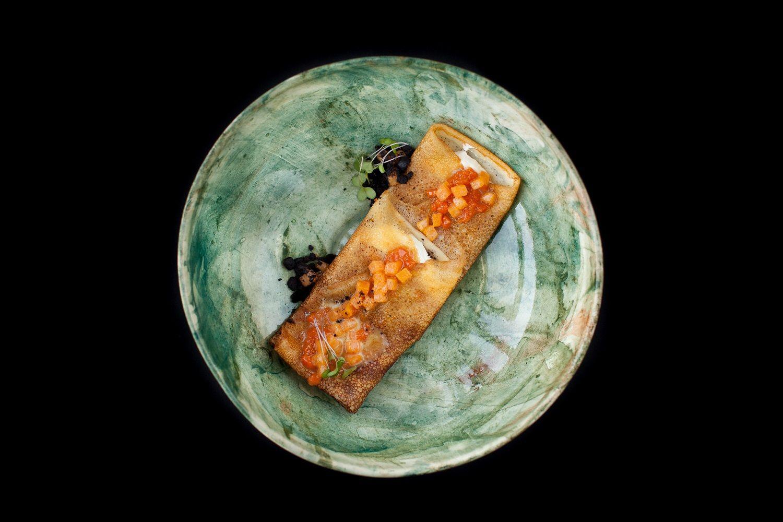 Блины с тыквой и заварным кремом в ресторане «Скотина» ©Фото предоставлено рестораном