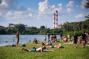 Пляж в парке «Старая Кубань» © Фото Елены Синеок, Юга.ру