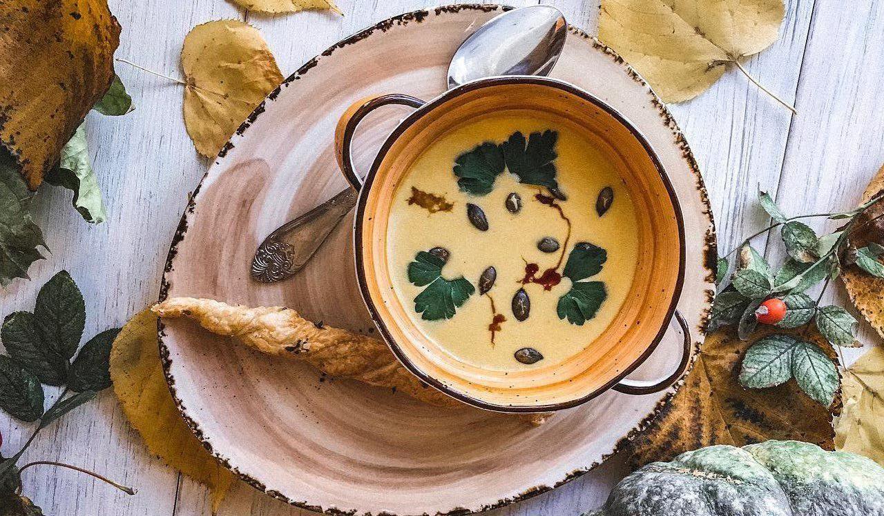 Сезонный суп из тыквы