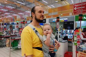 Денис Хрунин с сыном ©Фотография предоставлена Денисом Хруниным