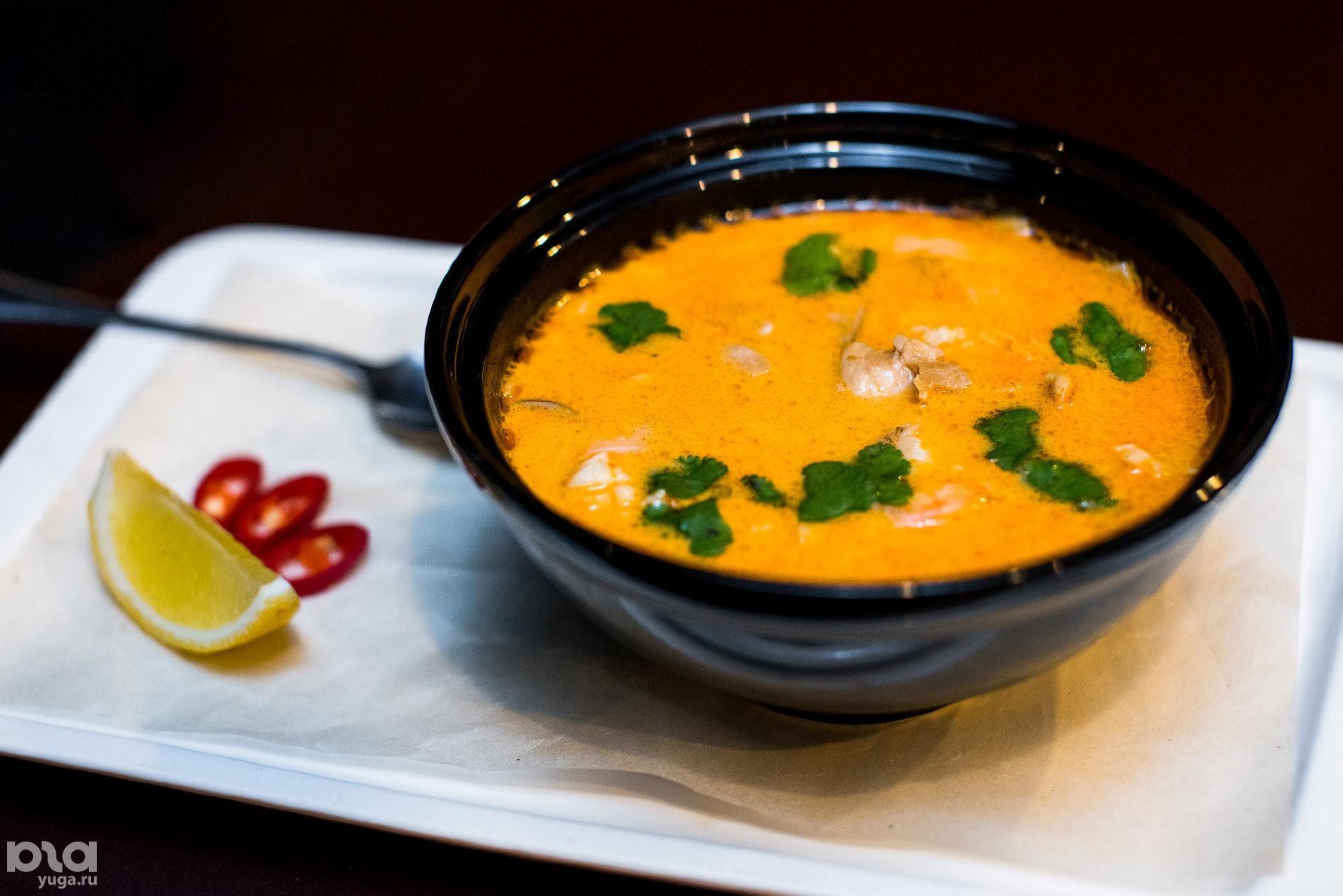 Ресторан «Рис», суп том-ям — национальное блюдо Лаоса и Таиланда