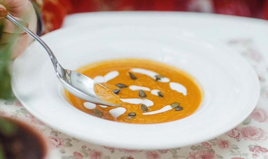 Крем-суп из тыквы на кокосовом молоке