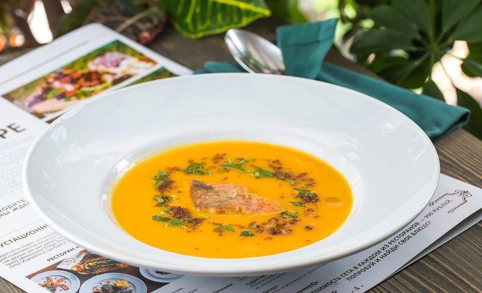 Суп из тыквы и морского окуня ©Фото со страницы «Борщberry» в инстаграме www.instagram.com/borshberry_love
