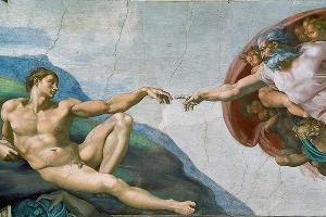 Микеланджело, «Сотворение Адама» © Фото с сайта kinohod.ru