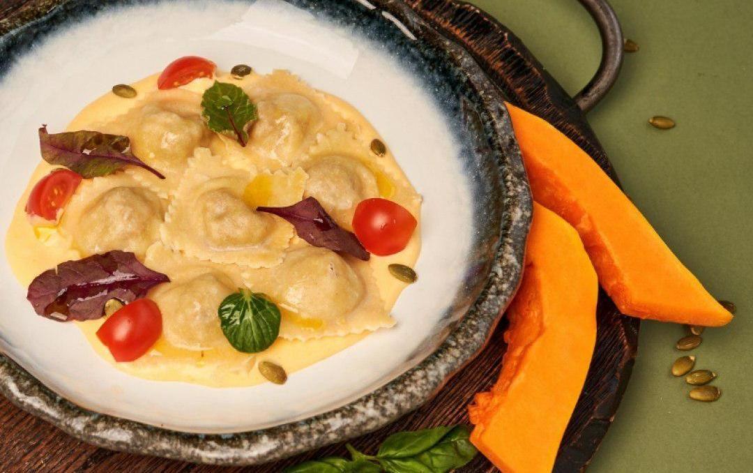Равиоли с тыквой и сыром рикотта