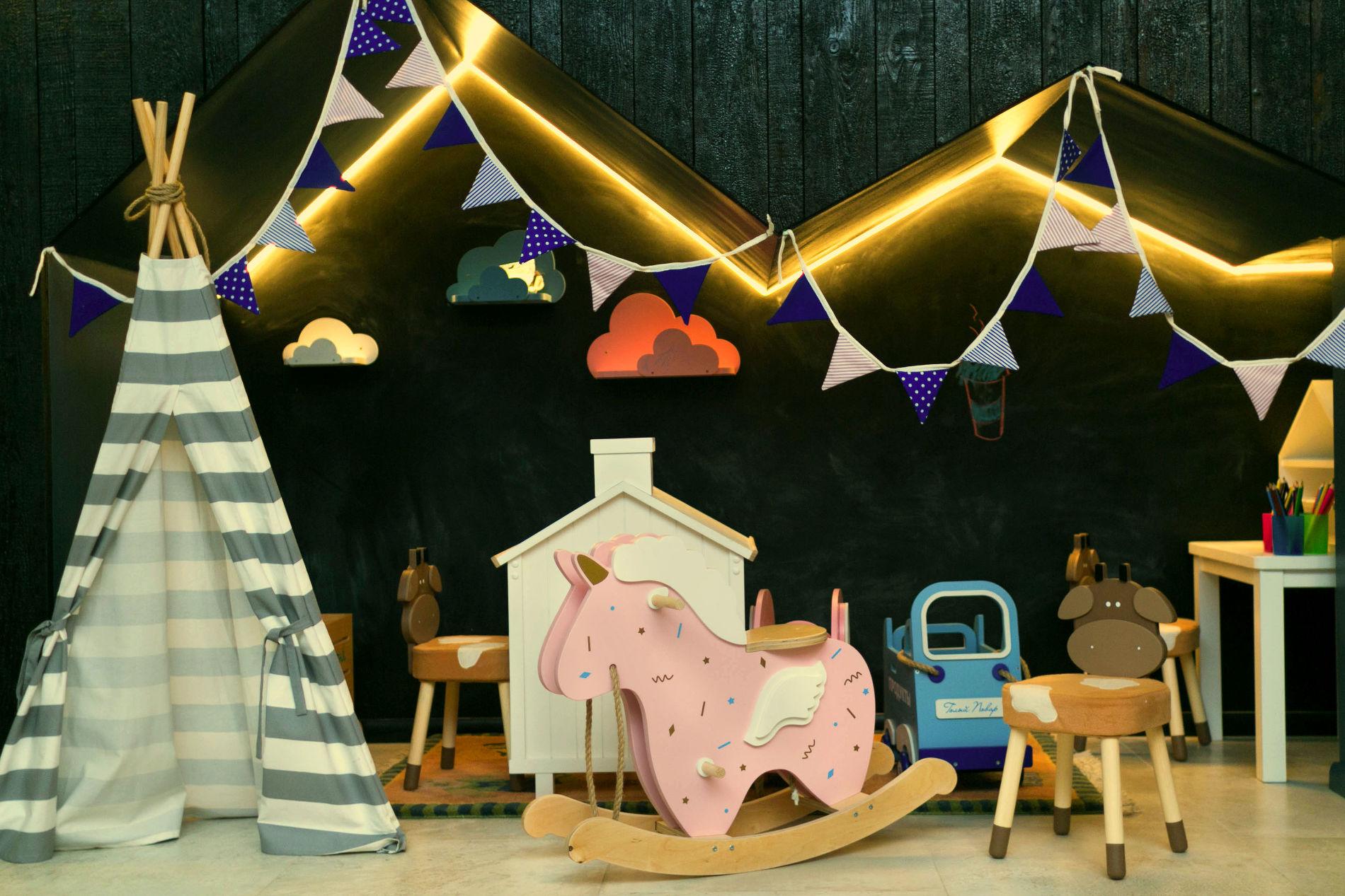 Открытая и безопасная детская зона ©Фото ресторана «Голый повар»