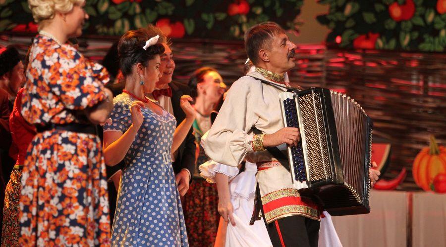 Кадр из спектакля «Кубанские казаки» © Фотография предоставлена пресс-службой краснодарской филармонии