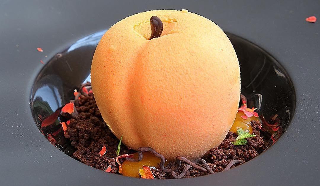 Десерт «Райский персик»
