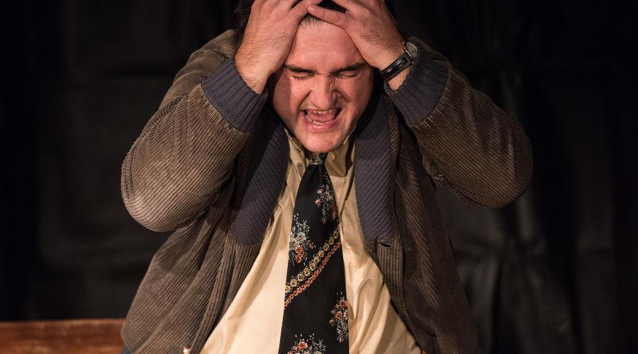 Прогон спектакля «Скамейка» в «Одном театре» © Фото Елены Синеок, Юга.ру